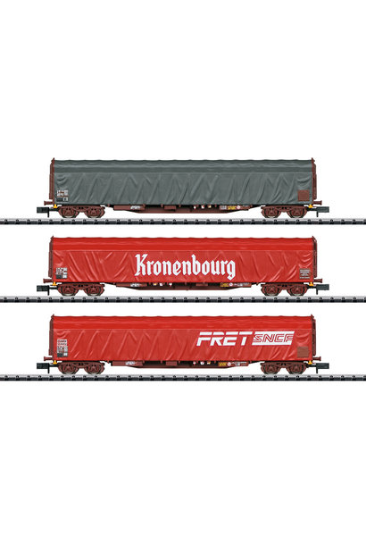 15115 Schiebeplanwagen-Set Rils SNC