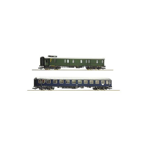 Roco 74098 2er Set Schnellzugwag. DB