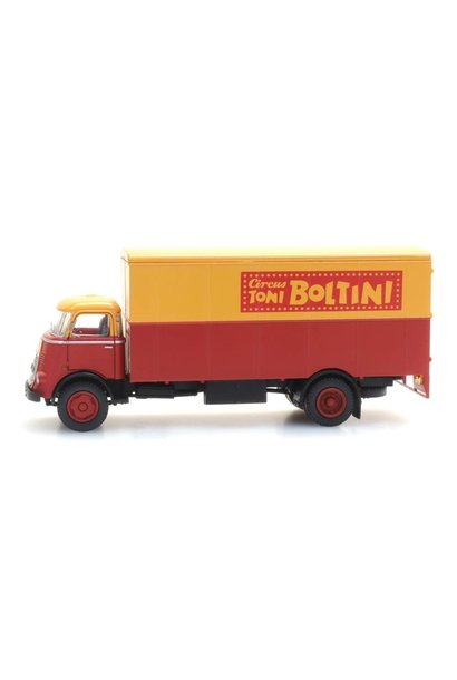 "48703214 DAF cabine '64, kofferopbouw ""Cirkus Boltini"""