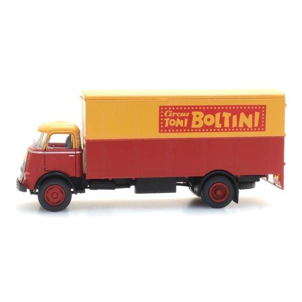"Artitec 48703214 DAF cabine '64, kofferopbouw ""Cirkus Boltini"""