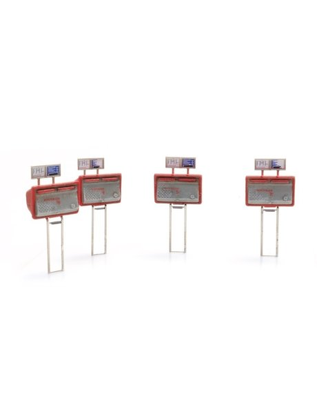 ARTITEC 387459 Tweelingbrievenbussen rood-grijs (4x)