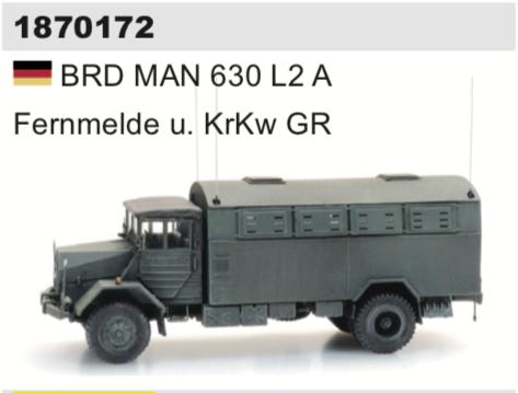 1870172 BRD MAN 630 L2 A Fernmelde u. KrKw GR-1