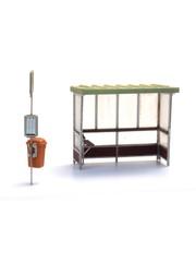 Artitec 10378 Abri beton voor bus en trein bouwpakket (3x)