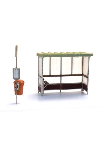 10378 Abri beton voor bus en trein bouwpakket (3x)