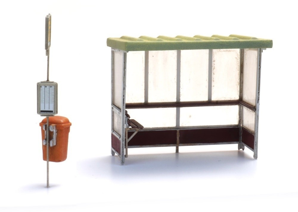 10378 Abri beton voor bus en trein bouwpakket (3x)-1