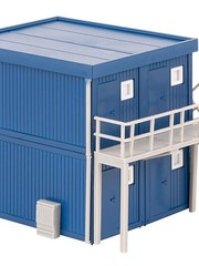 Faller 130134 4 BOUWCONTAINERS, BLAUW (2/19) *