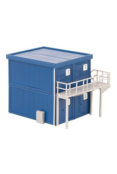 130134 4 BOUWCONTAINERS, BLAUW (2/19) *