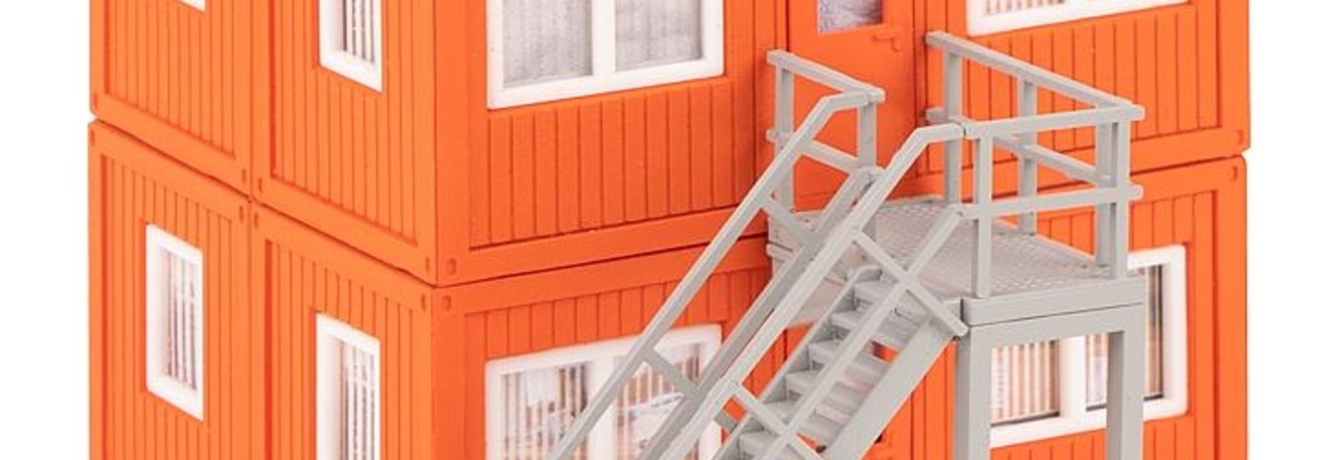 130135 4 BOUWCONTAINERS, ORANJE (2/19) *