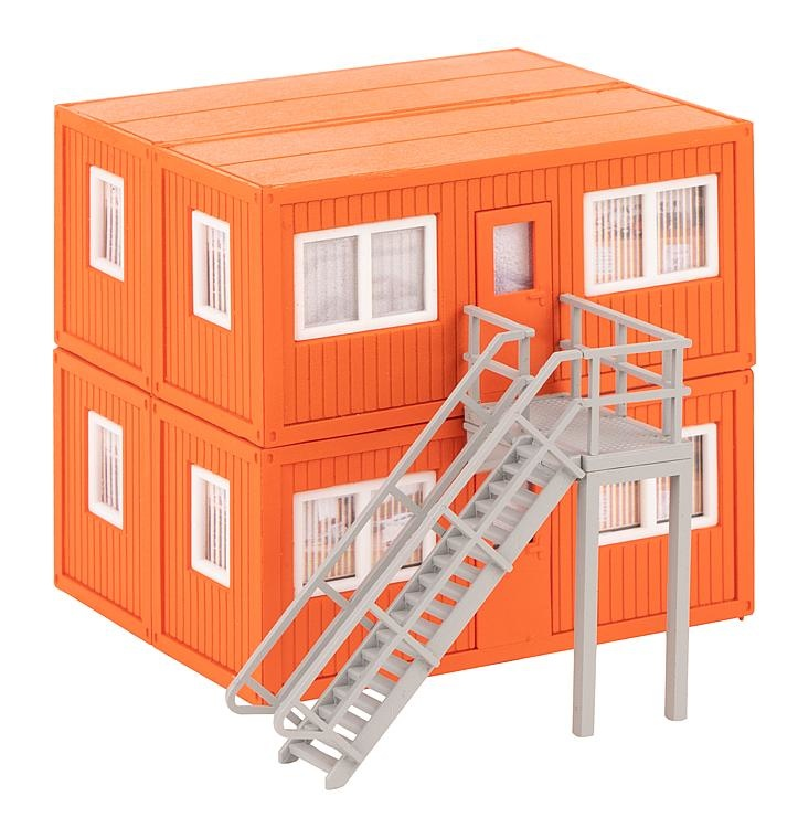 130135 4 BOUWCONTAINERS, ORANJE (2/19) *-1