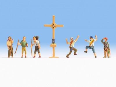 15874   Bergwanderer mit Gipfelkreuz-1