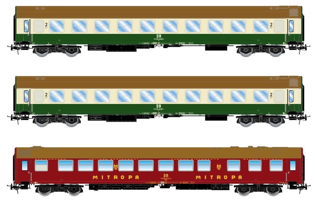 HR4260 DR Set Reisezugwagen-set OsshD-1