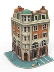 Märklin 72783 Gebäudebausatz Eckhaus Bank(P