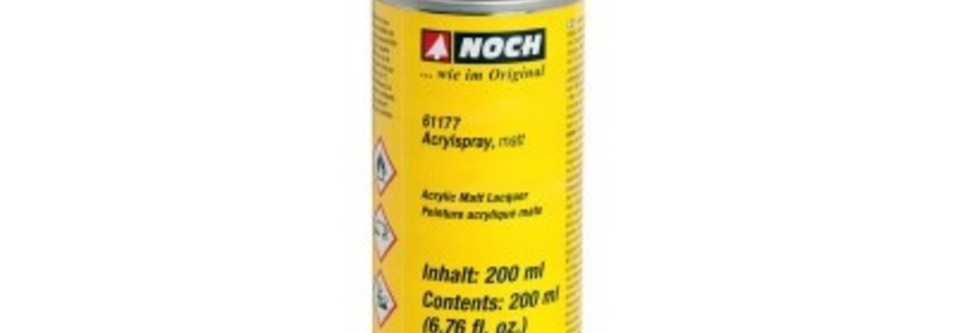 61177   Acrylspray, matt, schwarz