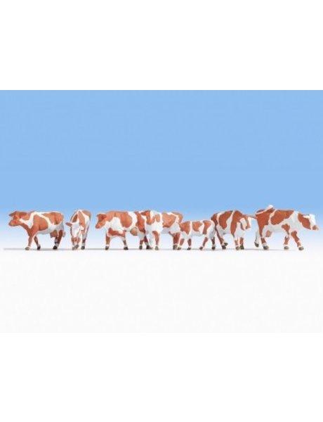 NOCH 15726   Kühe, braun-weiß