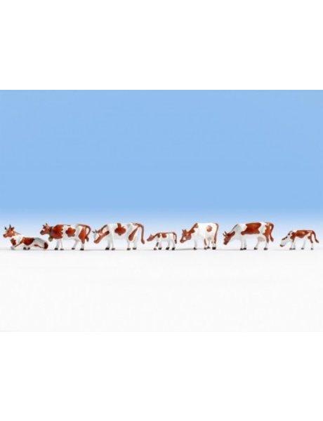 NOCH 15723       Kühe, braun-weiß
