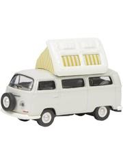 Schuco VW T2a Camper, grijs-wit