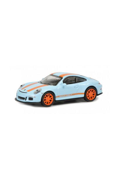 Porsche 911 R, blauw-oranje