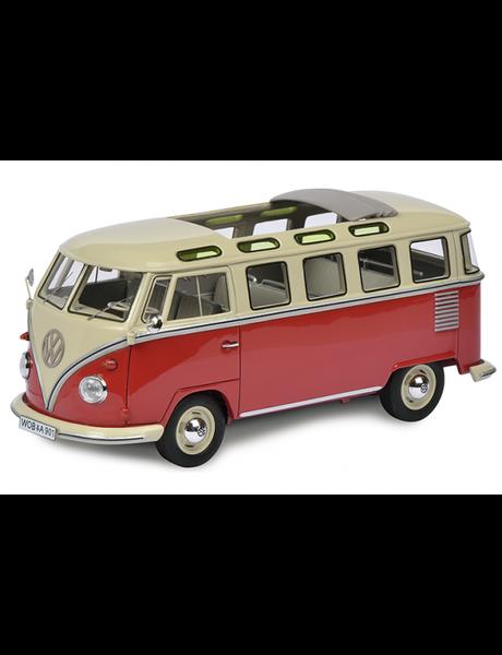 Schuco VW T1b Samba, rood-beige