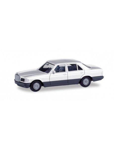 Herpa Mercedes Benz S Klasse (W126), wit (Minikit)