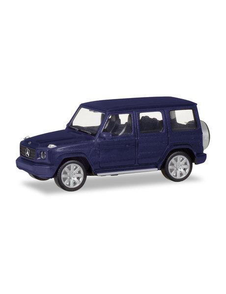 Herpa Mercedes Benz G, blauw metallic