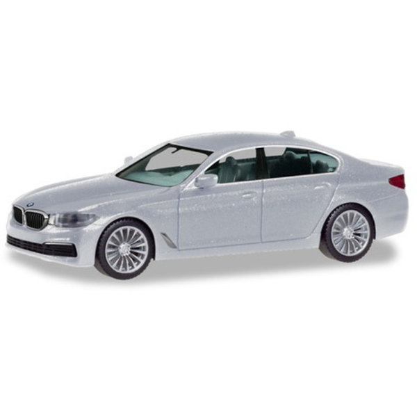 Herpa BMW 5 Limo, zilver metallic