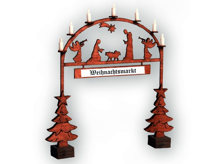 14681 Christmas Market Entry Arch-1
