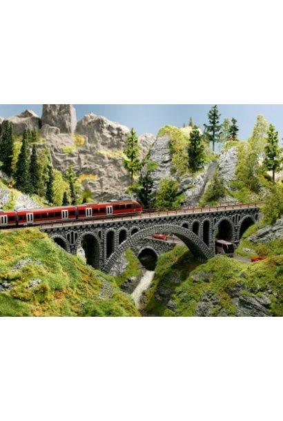 58669                Brückenpfeiler Bruchstein-Viadukt