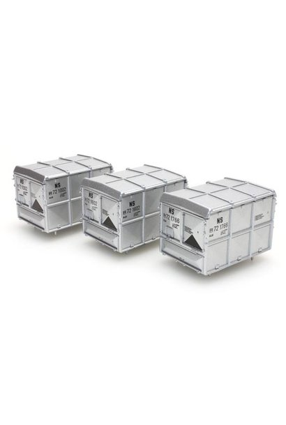 487.801.11 gesloten container zilver NS (set 3 containers)