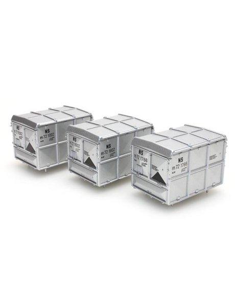 ARTITEC 487.801.11 gesloten container zilver NS (set 3 containers)