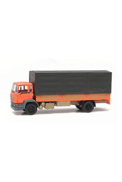 487.053.01 - DAF kantelcabine 1987, huif, oranje