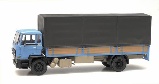 487.052.01 - DAF kantelcabine 1982, open bak, huif, blauw-1