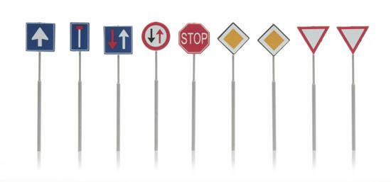 387.263 NL-verkeersborden: voorrang, richting 9 stuks-1