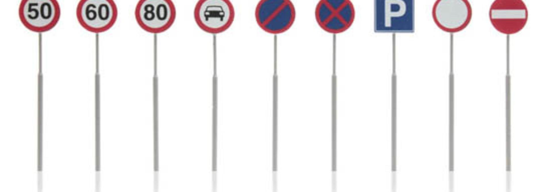 387.262 NL-verkeersborden: snelheid, parkeer, verbod 9 stuks