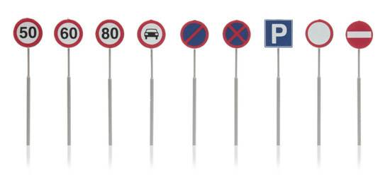 387.262 NL-verkeersborden: snelheid, parkeer, verbod 9 stuks-1
