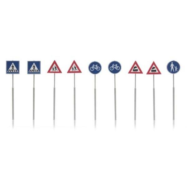 Artitec 387.215 NL-verkeersborden: voetganger, fiets, trein 9 stuks