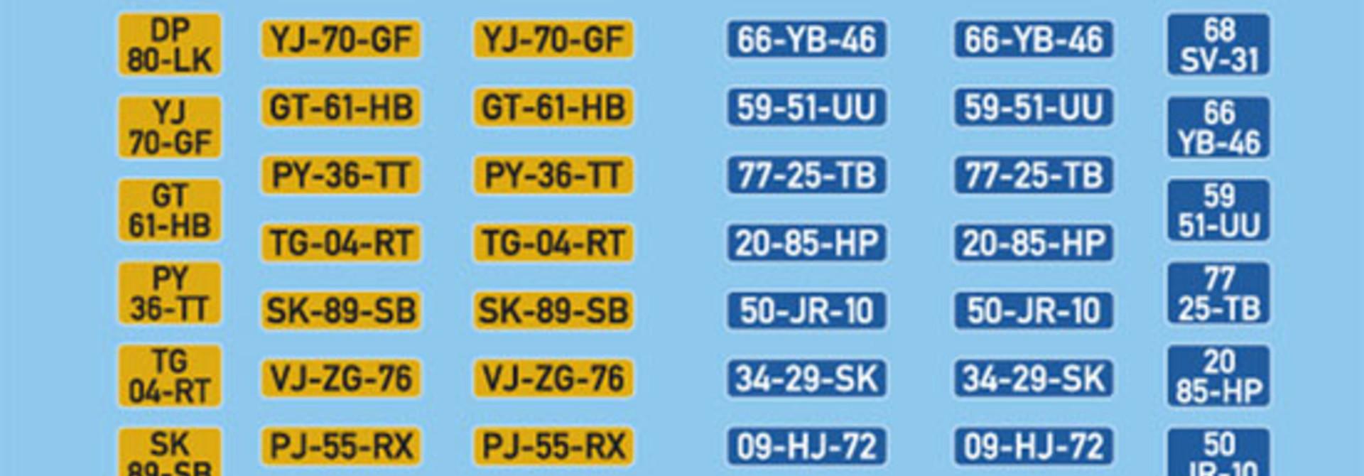 10.348 NL Autonummerborden