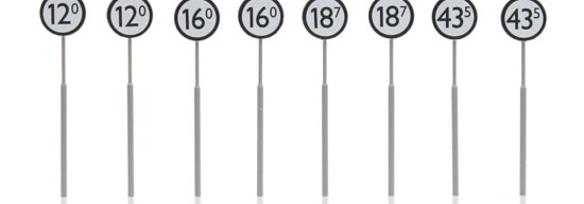 387.209 NS-borden: aankondiging overweg 8 stuks
