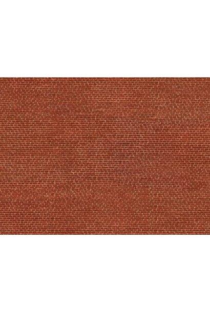 "56610 3D Cardboard Sheet ""Clinker"" red"