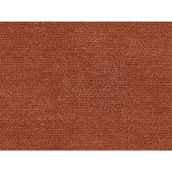 """NOCH 56610 3D Cardboard Sheet """"Clinker"""" red"""