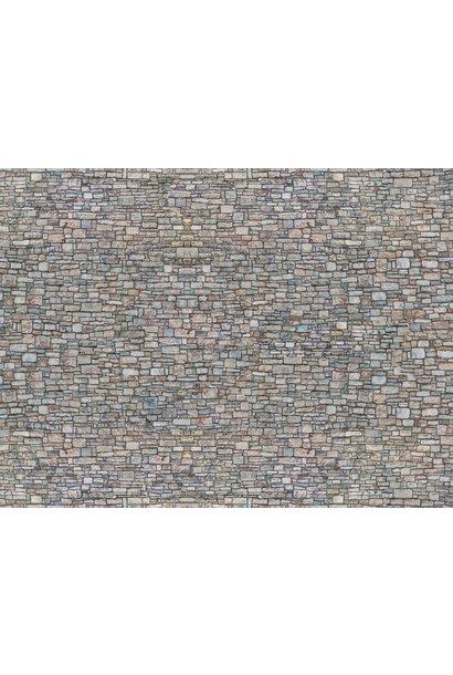 """56940 3D-Kartonplatte """"Bruchsteinmauer"""""""