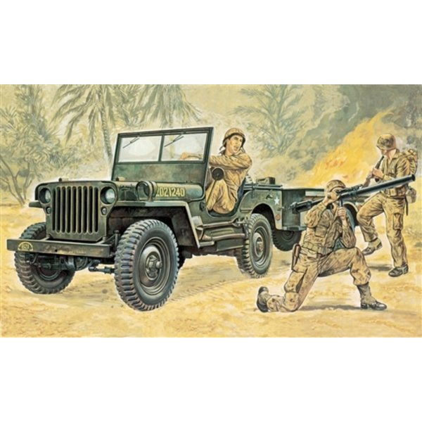 Italeri 0314 1:35 Willys MB Jeep with Trailer