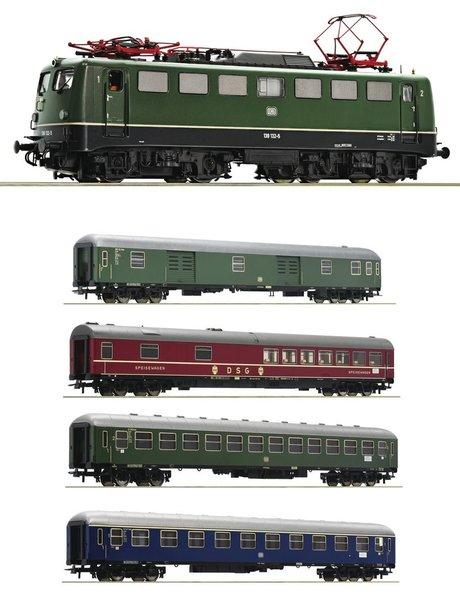 Roco Baureihe 139 DCC Sound + D sneltreinrijtuigen