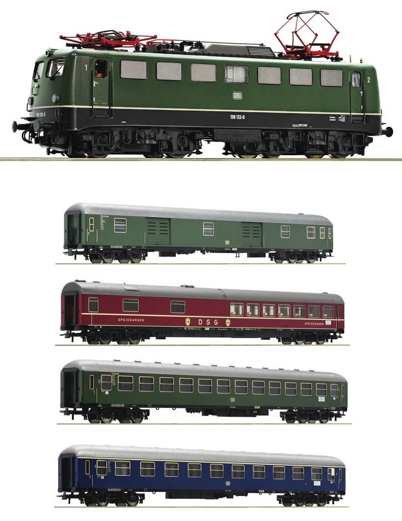 Baureihe 139 DCC Sound + D sneltreinrijtuigen-1