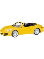 Herpa 028899 Porsche 911 Carrera 4S Cabrio, geel
