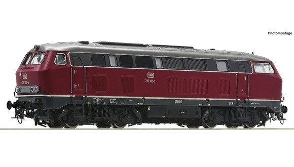 70751 Diesellocomotief BR 215 van de DB DC-1