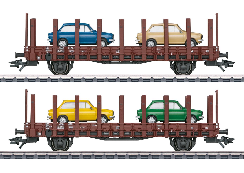 46404 Nederlandse rongenwagens beladen met  DAF66  van de NS-1