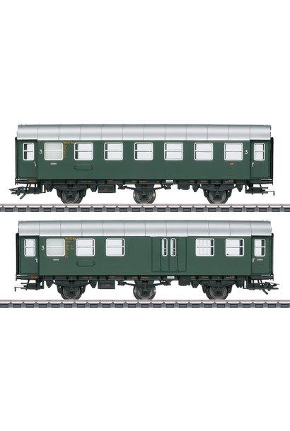 43195 Umbauwagen-Paar 3.Kl.+Gep.DB
