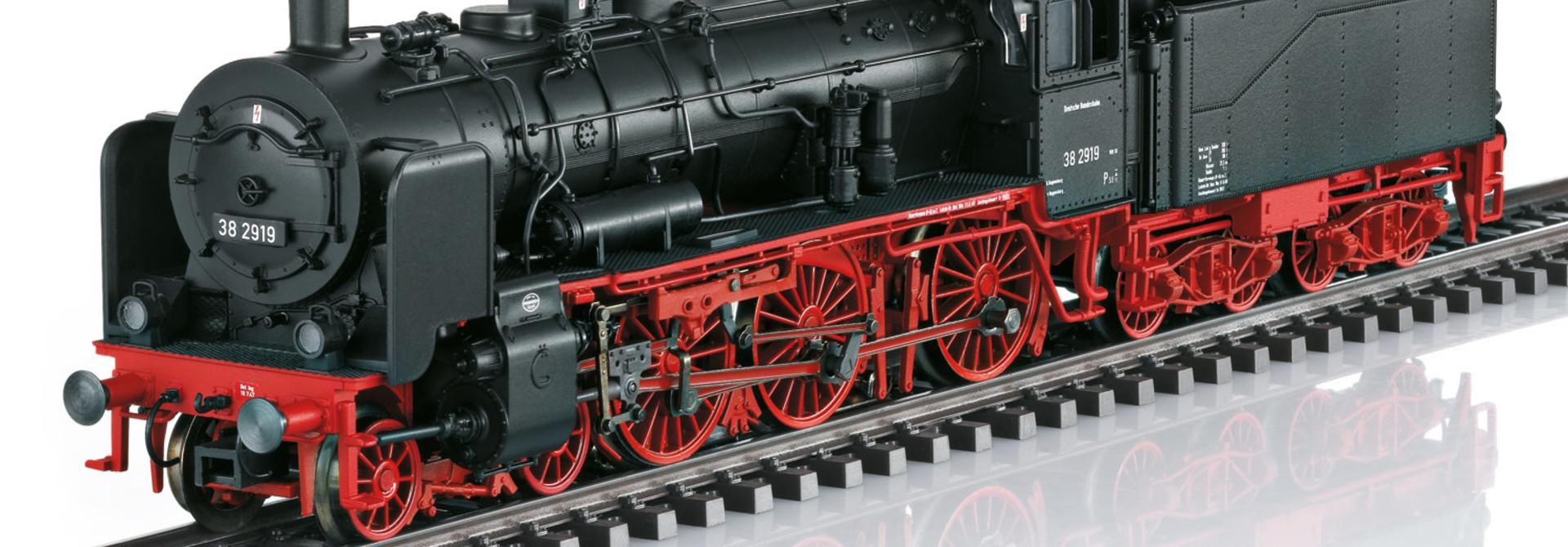 22891 stoomlocomotief BR 38 van de DB met sound
