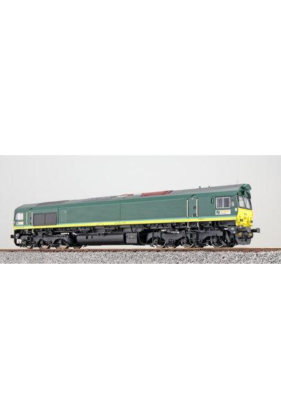 31272 zware diesellocomotief Class 66 van Ascendos (NL) AC/DC sound + rook