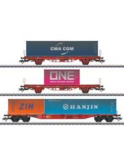 Märklin 47580 Containerwagen-Set Lgs 580 DB